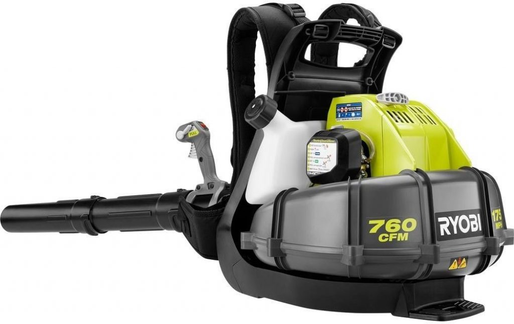 Ryobi 175 Mph 760 Cfm 38cc Gas Backpack Leaf Blower Review 2020 Electrogardentools