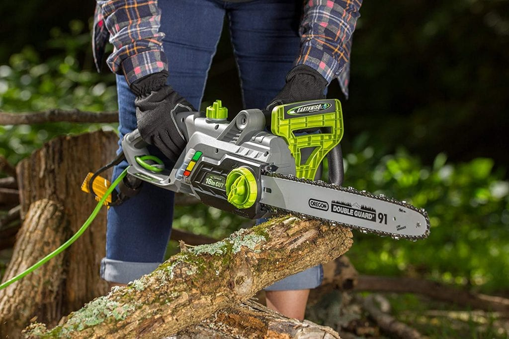 Earthwise cs33016 corded electric chainsaw - photo 3