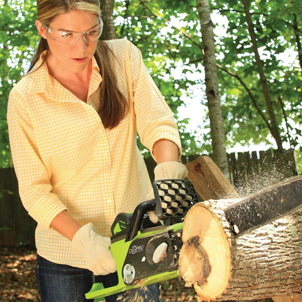 Greenworks 16 inch cordless chainsaw - photo 4
