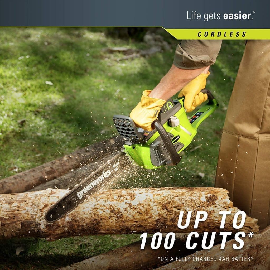 Greenworks 16 inch cordless chainsaw - photo 3