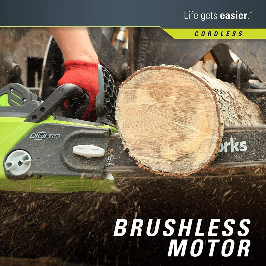 Greenworks 16 inch cordless chainsaw - photo 2