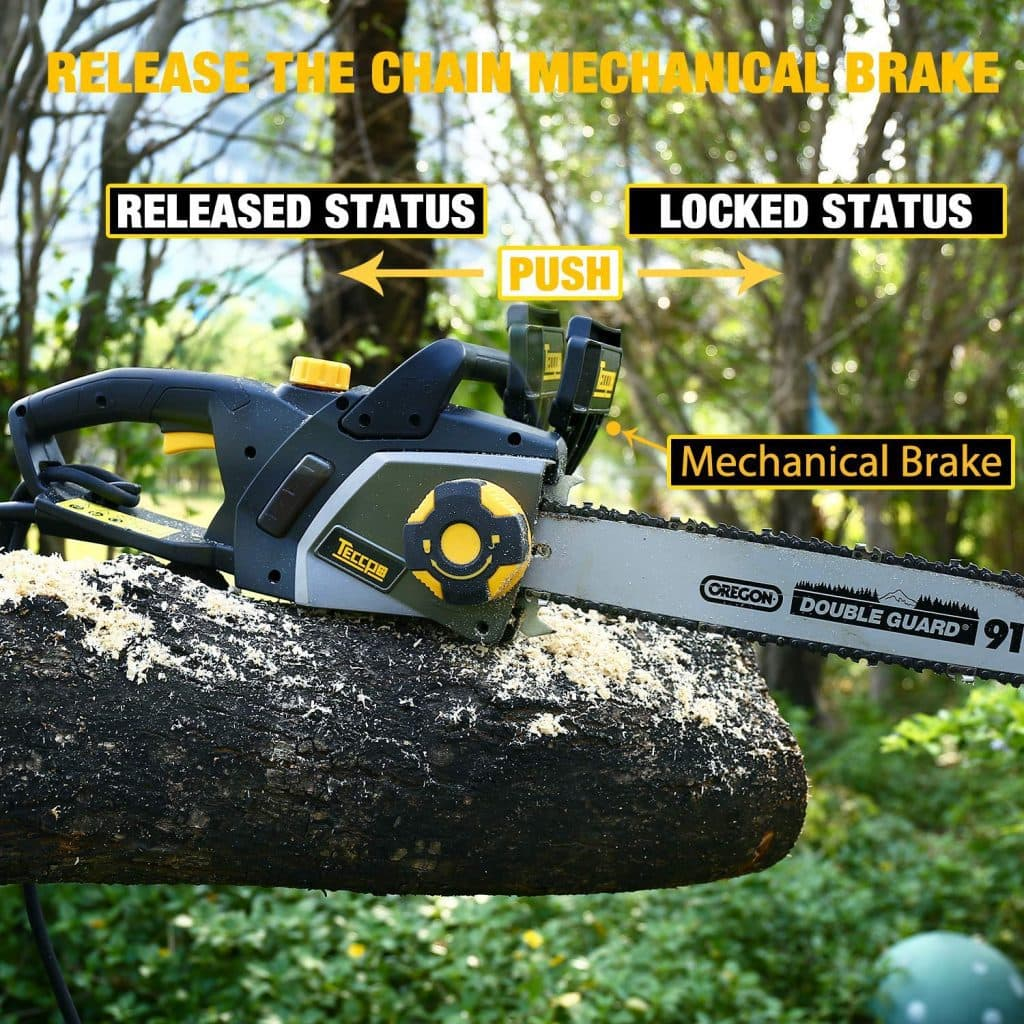 Teccpo electric chainsaw - photo 4
