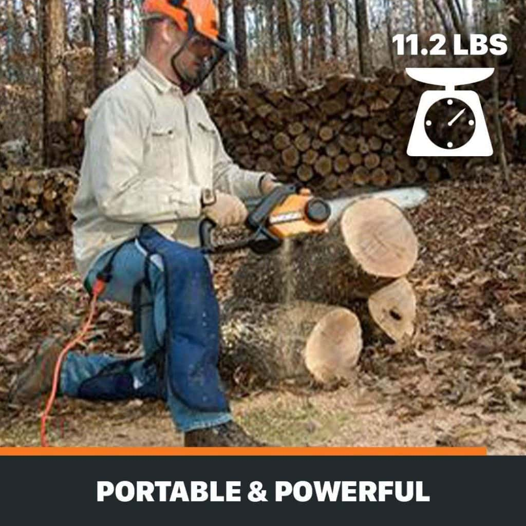 Worx wg304 chainsaw - photo 4