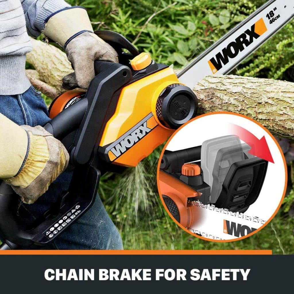 Worx wg304 chainsaw - photo 3