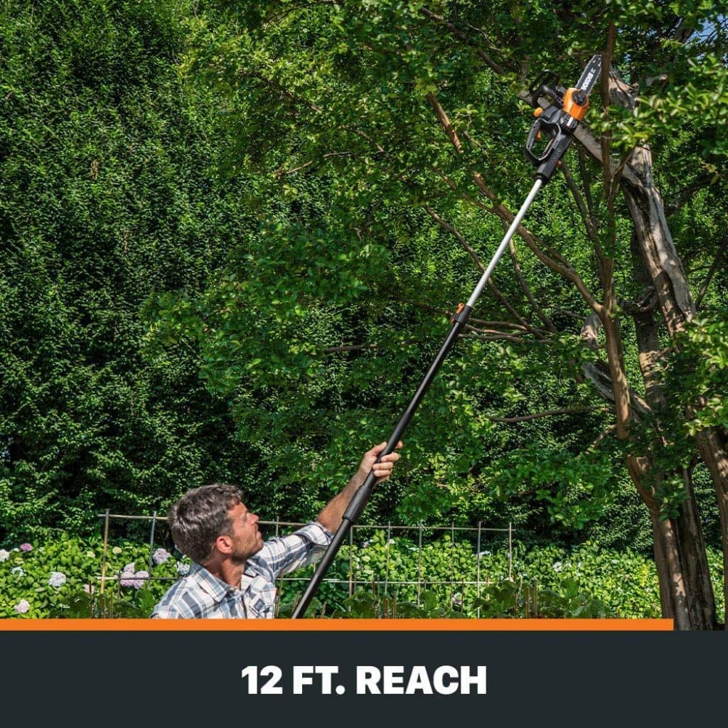 Worx wg323 cordless pole saw - photo 4