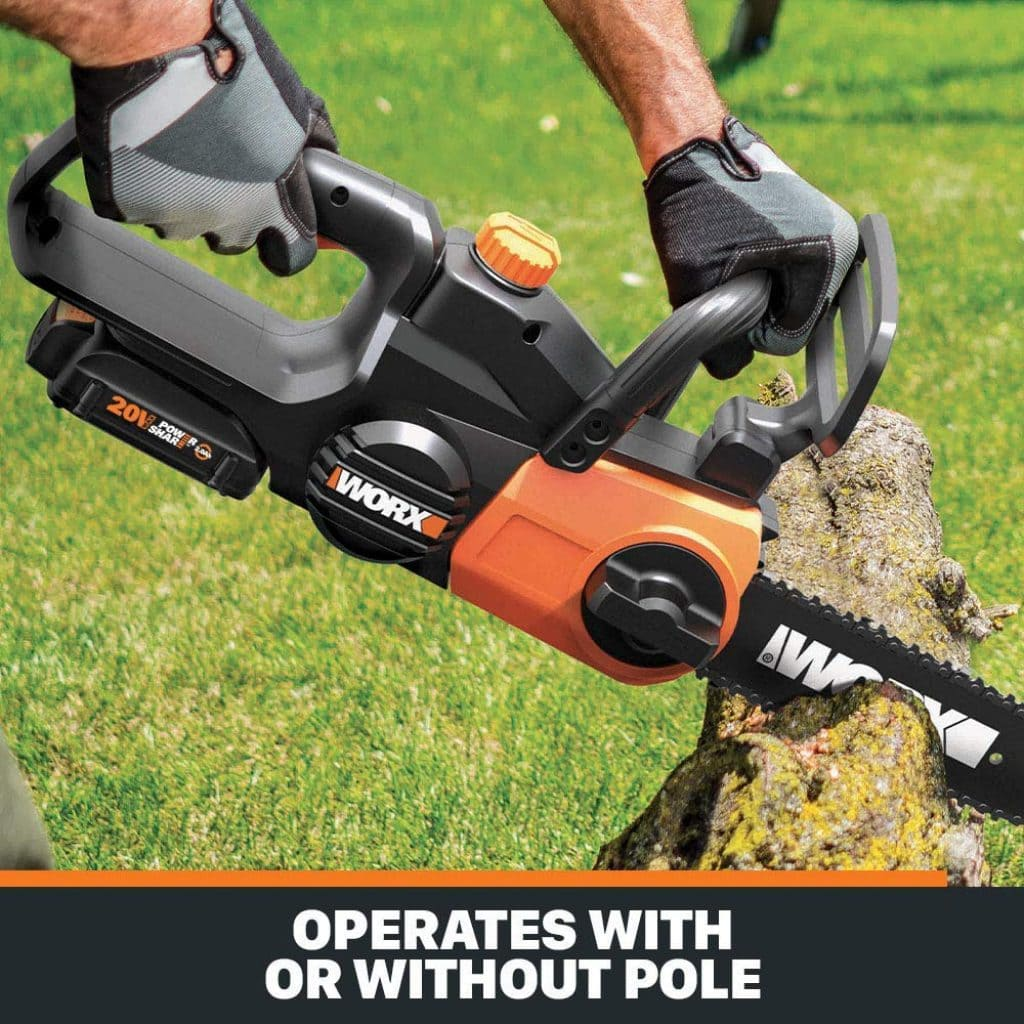 Worx wg323 cordless pole saw - photo 3