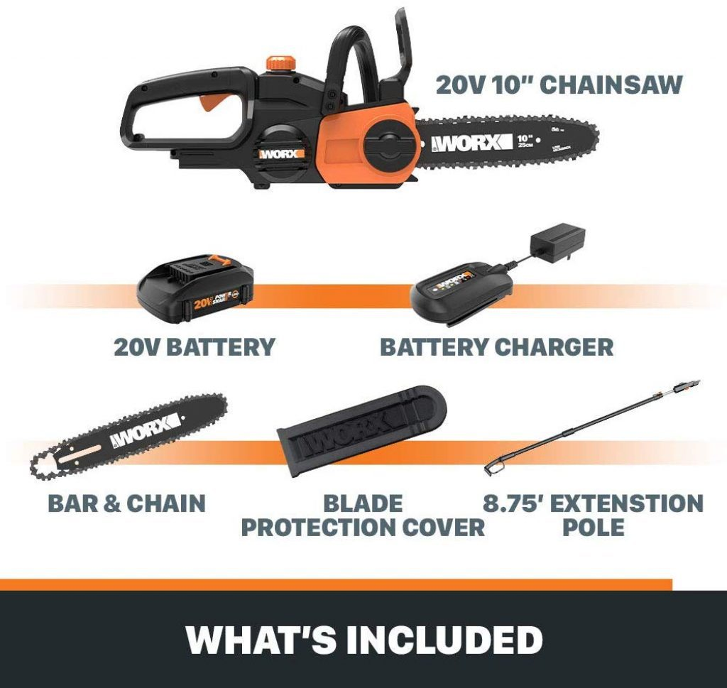Worx wg323 cordless pole saw - photo 2