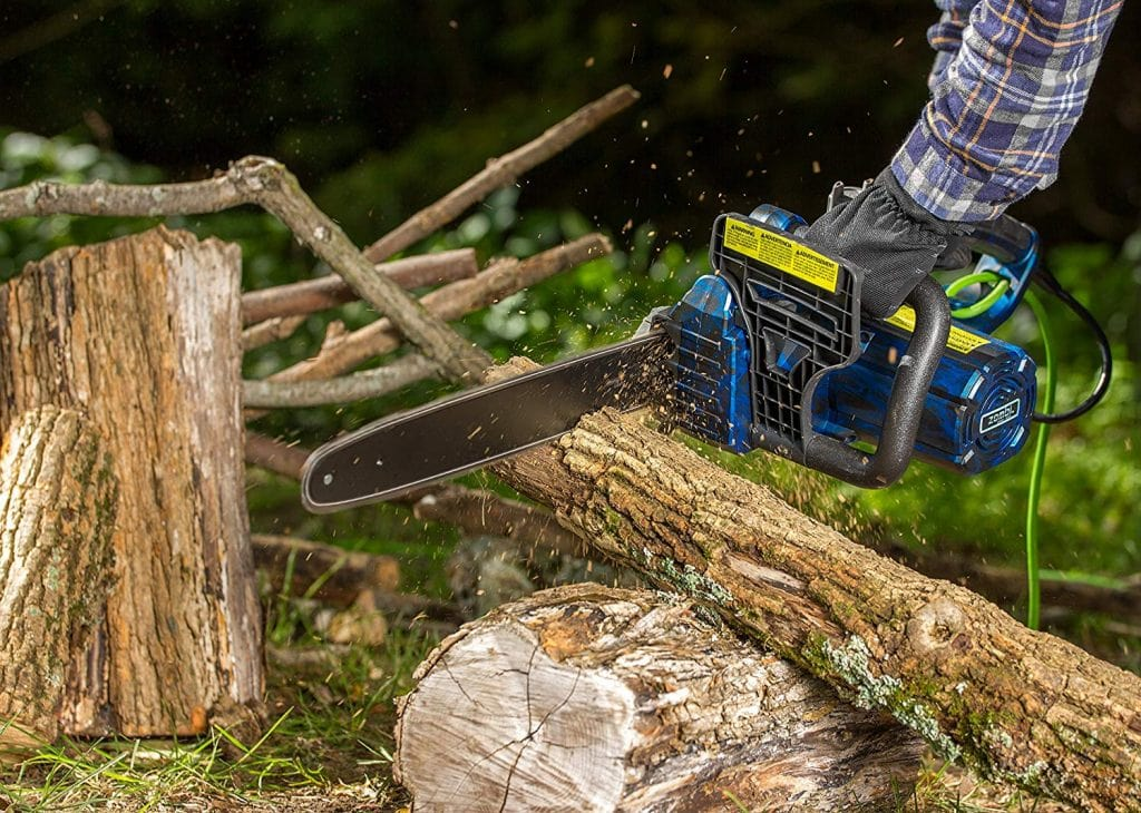 Zombi zcs12017 corded electric chainsaw - photo 2