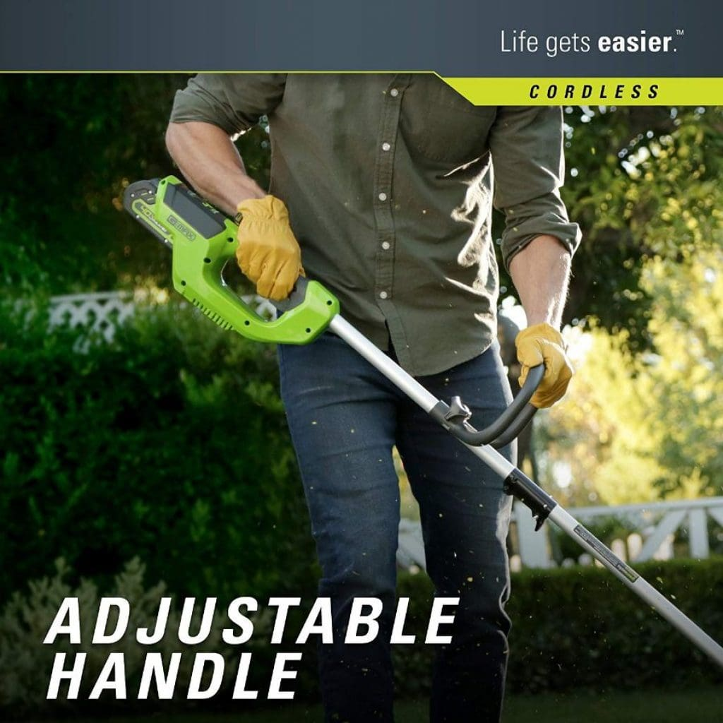 Greenworks cordless string trimmer - photo 1