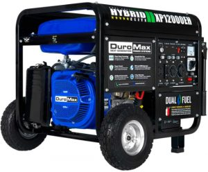 DuroMax-XP12000EH-Dual-Fuel-Portable-Generator-12000-Watt-Gas-or-Propane-Powered-Electric-Start-Home-Back-Up-RV-Ready-50-State-ApprovedBlue-and-Black