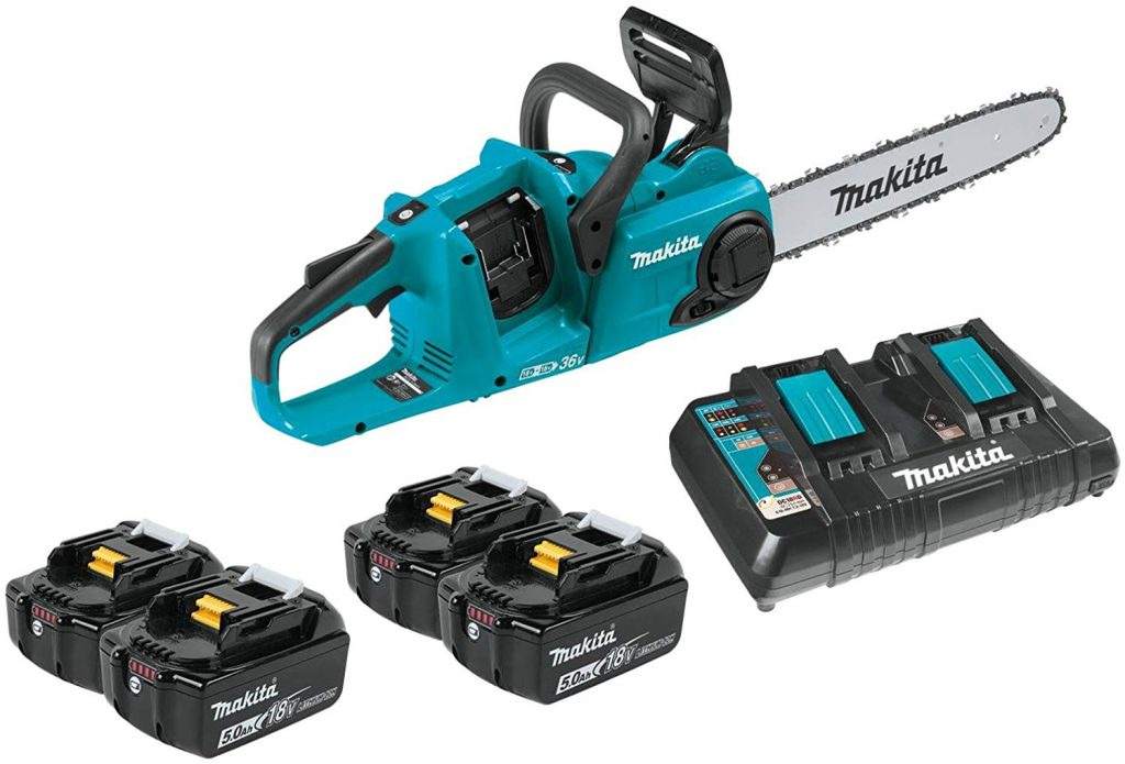 Makita XCU03PT1 Lithium-Ion Brushless Cordless 14 Chain Saw Kit