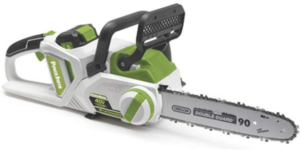 POWERSMITH 14 Inch Cordless Chainsaw w 40V Max Lithium Ion Battery and Charger