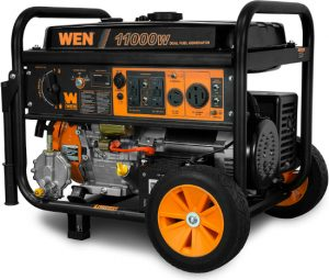 WEN-DF1100T-11000-Watt-120V240V-Dual-Fuel-Portable-Generator-with-Wheel-Kit-and-Electric-Start-CARB-Compliant-Black