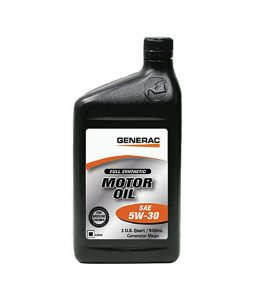 Generac-Full-Synthetic-Motor-Oil-5W-30-SN-Quart-Bottle-Part-0J5140