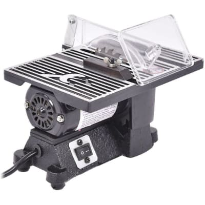 GOFLAME 4 Table Saw 8500 RPM Electric Ideal for Wood, Metal, Tile and Plastics,Cuts Craft Power Tools Mini Electric Table Saw