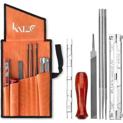 Katzco Chainsaw Sharpener File Kit - for Sharpening and Filing Chainsaws and Other Blades