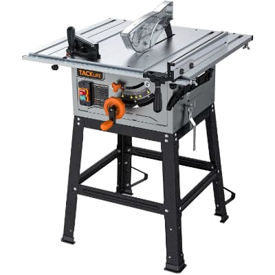 TACKLIFE Table Saw, 10-Inch 15-Amp Table Saw