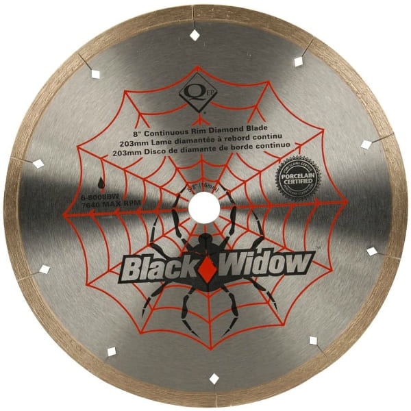 QEP Black Widow Micro-Segmented Rim Diamond Blade
