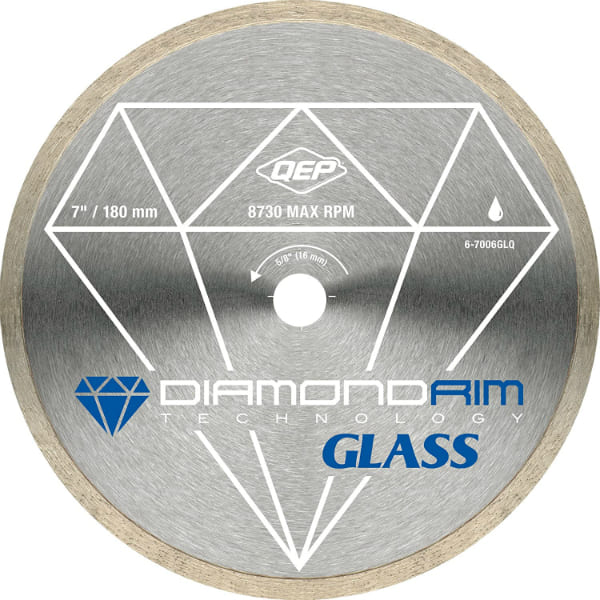 QEP Continuous Rim Glass Tile Diamond Blade