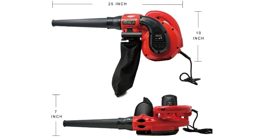 Toolman Corded Electric Compact Leaf sizes