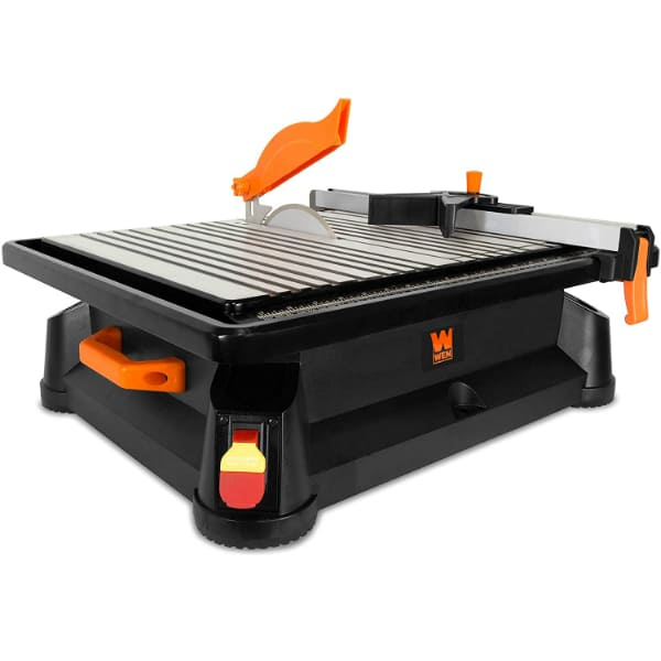 WEN Portable Wet Tile Saw with Fence and Miter Gauge