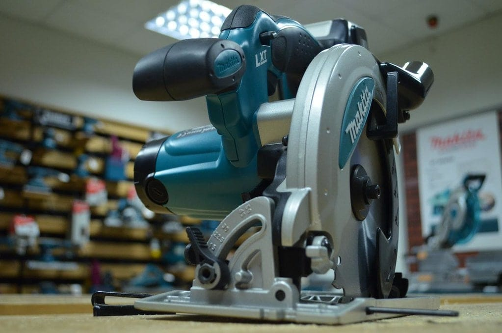 Makita circular saw in a shop