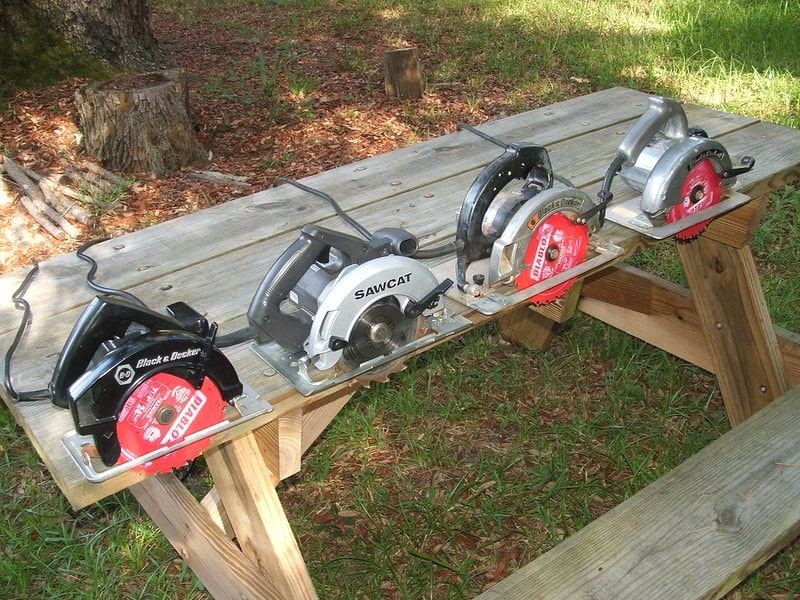 circular saws on a table