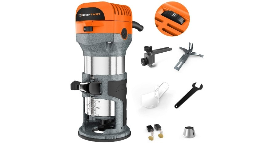 Enertwist Compact Router Tool full view