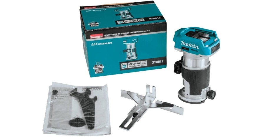 Makita XTR01Z whats in package