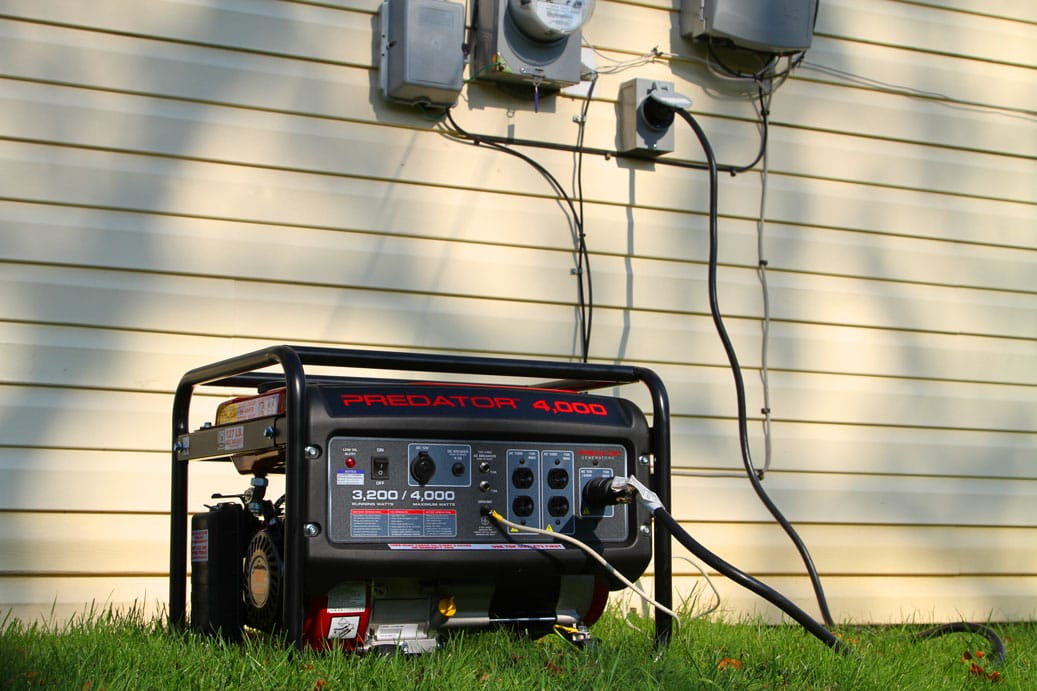 generator hooked to home