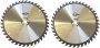 9* 40 Tooth Carbide Tip General Purpose Wood Cutting Circular Saw Blade with 5/8